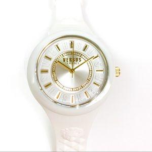 NWT Versace | Versus Women's White & Gold Watch
